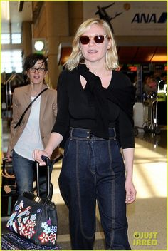 7df219c9f3d Kirsten Dunst Emerges After Garrett Hedlund Breakup Reports  Photo Kirsten  Dunst wheels her luggage through LAX Airport to catch a flight out of town  on ...