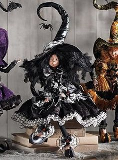 """Add the Mark Roberts 27"""" Curiosity Witch to your Halloween decor collection for an eye-catching piece thats perfect for your mantle or accent table."""