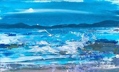 Signed Original Acrylic Painting -Seascape- by Annabel Burton