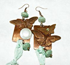 OOAK Exquisite Copper and green vintage beads by CreationsAsh, $59.00