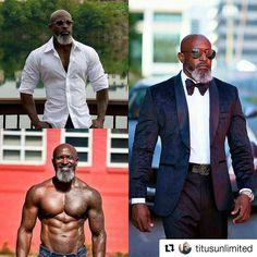 Thanks @hairdivacc! #GrayHair #GrayBeard #Bearded #BeardLife #BrothaYourGrayHairIsBeautiful #Repost @titusunlimited #gentleman #beardgang #bearded #blackmenwithstyle #menwithstyle #stylish #eyecandy #alphamale #chocolate #sharpdressedman #melaninart #melanin #Style #ripped #over40 #greybeard #readventures #reathegal #readagal