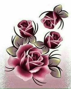 Flower Shape, Flower Art, Rock Flowers, Beadwork Designs, Beautiful Flowers Wallpapers, One Stroke Painting, Arte Floral, Love Wallpaper, Stencil Designs