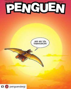 """Her Sey İcin Teşekkürler"" / ""Thank you for everything"" Last edition of Penguen, one of the oldest and best comic weekly magazines of Turkey. Sad day for us @penguendergi #selcukerdem #erdilyasaroglu #mizah #dergi #comics #illustration #caricature #karikatur http://turkrazzi.com/ipost/1517397702794370855/?code=BUO4SvSDV8n"