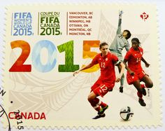 great stamp Canada P (FIFA Women's World Cup Canada 2015; soccer, football, calcio, サッカー, futbolas, voetbal, fotboll, футбол, كرة القدم, futebol, fodbold) postage stamps poste-timbres Canada posta pulu sellos selos Briefmarken Kanada porto franco