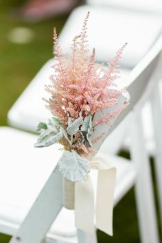 pink astilbe wedding ceremony decor idea / http://www.himisspuff.com/astilbes-wedding-ideas/8/