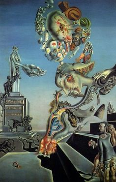 Playing in the Dark - Dali Salvador - Date: 1929 Style: Surrealism Genre: symbolic painting Media: collage, oil, cardboard Salvador Dali Oeuvre, Salvador Dali Tattoo, Salvador Dali Paintings, Salvador Dali Quotes, Pintura Wallpaper, Fantasy Kunst, Surrealism Painting, Ouvrages D'art, Art Moderne