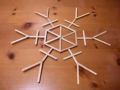 popscicle stick snowflakes