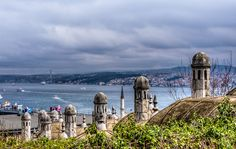 Bosphorus from Suleymaniye Mosque   photo by Fred Murphy