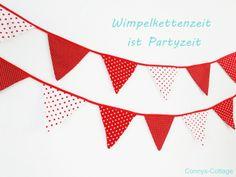 Wimpelkette  von Connys Cottage http://de.dawanda.com/product/53063751-Wimpelkette
