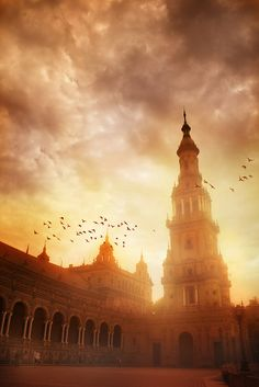 Seville, Spain. Plaza de España