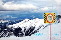 """""""Alp Mountains View With A Sign"""" by marcolm Sign Image, European Countries, Mountain View, Croatia, Royalty Free Stock Photos, Italy, Mountains, Signs, Photography"""