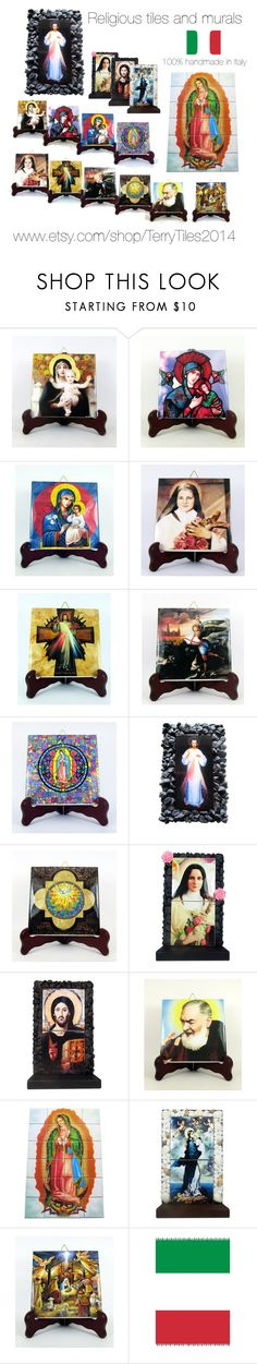 Religious gifts by TerryTiles2014 - catholic tiles and murals by terrytiles2014 on Polyvore featuring interior, interiors, interior design, Casa, home decor and interior decorating