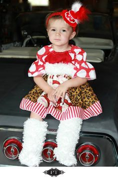 Chiffon Leopard santa dress-
