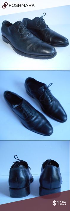 mens Cole Haan Black Leather NIke AIr  size 8.5 m Cole Haan NIke Air Black plain front dress shoe great shape lots of life left no major damages looks great!  really rare NIKE AIR DRESS SHOES for men these were discontinued a long time ago and will not be rereleased, nike sold the company in 2012 really rare collectors shoe or classic dress shoe up to you 8.5m Cole Haan Shoes Oxfords & Derbys
