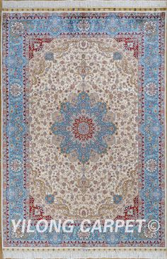 Blue and Yellow Rug Handmade Persian Carpets Made in Pakistan Materials: Silk Dyeing: vegetable dyeing Technology: Hand Knotted Size: 2'x3' -14'x20'    Fit for: bedroom, living room, dining area, foyer, back door, porch, office etc. … Email: alice@yilongcarpet.com  WhatsApp/Tel/Wechat: +86 156 3892 7921 #customsilkcarpet #silkchinnesecarpet #silkcarpetpersian