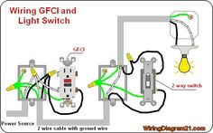gfci receptacle and switch same box how to in 2019 RV GFI Wiring Diagrams gfci outlet wiring diagram