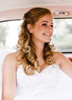 Brautfrisur ohne locken