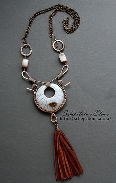 Necklace |  Elena Schepotkina. .:!:. Inspiration. i could do something inspired by this