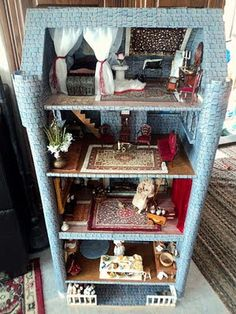 Homemade Obsessions: Dresser Turned Into Dollhouse Castle. Inspiration for Maggie's dollhouse?