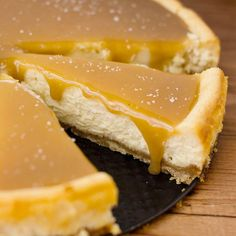 it doesn't get much better than salted caramel, and this caramel cheesecake recipe with a shortbread macadamia nut crust tastes incredible and is a huge hit