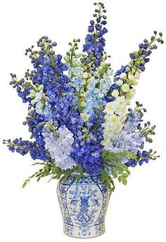 Delphinium Orchids in Vase, Faux - New Faux Florals by the French Bee - Week 4 - Sales Events 2018