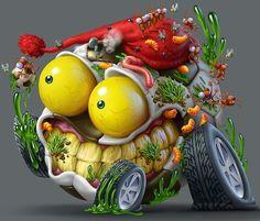 Trash Wheels by Oscar Ramos