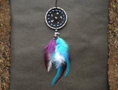 Dream catcher car accessory rear view mirror charm car decor Native American inspired hippie boho decoration