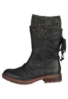 Chaussures Rieker Bottes à lacets - black/grey noir: 84,95 € chez Zalando (au 13/11/15). Livraison et retours gratuits et service client gratuit au 0800 490 80.