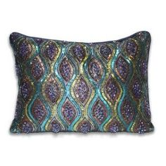 purple,teal and gold bedrooms   Purple, teal + gold sequined pillow.