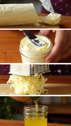 Homemade butter is just a shake away, and you butter believe these hacks will simplify your life! Homemade butter is just a shake away, and you butter believe these hacks will simplify your life! Easy Homemade Butter Recipe, Homemade Cheese, Flavored Butter, Food Hacks, Diy Hacks, Cheese Recipes, Diy Food, Baking Recipes, Food To Make