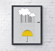jak powstaje deszcz? - Szare-Kropki - Plakaty dla dzieci