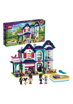 A Cozy Cottage Traveling, seeing the world, and having adventures certainly make a day exciting. However, at the end of it, we're equally excited to go home. Your child can create a peaceful place for their Lego friends also with Andrea's Family House. It includes Andrea's family, of course, and has lots of cool features to make the house feel like home. The removable roof makes the house easier to play in, and it has many fun elements, like a drum kit in the garage! Lego Friends Sets, Friends Tv Show, Lego Sets, Shop Lego, Family Roles, Cool Garages, Garage Studio, All Lego, Popular Toys