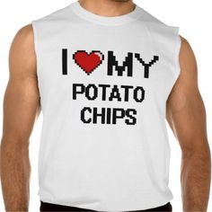 I Love My Potato Chips Digital design Sleeveless Shirt Tank Tops