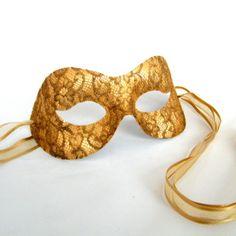 gold masquerade mask - Google Search