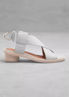 e95c8322bfb NEW SOLD OUT £65   OTHER STORIES By COS Grey Cross Front Leather Sandals UK  6