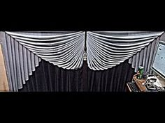 How to make swags and tails curtains(Dly) Elegant Curtains, Curtains With Blinds, Drapes Curtains, Window Swags, Swags And Tails, Valance Patterns, Graphic Design Pattern, Diy Arts And Crafts, Diy Crafts