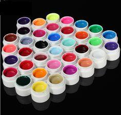 FREE SHIPPING! 36 Beautiful Pure UV Gel Nail Colors. SKU039935 from Shopiton