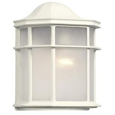 Filament Design Negron 1-Light White Outdoor Sconce-CLI-XY775379360054 - The Home Depot