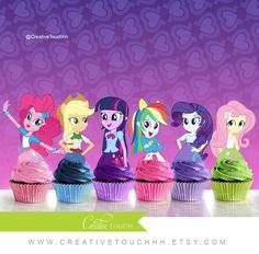 My Little Pony Equestria Girls Cupcake Toppers por CreativeTouchhh