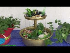 How To Make Rain Waterfall Fountain At Home Easy // DIY - YouTube