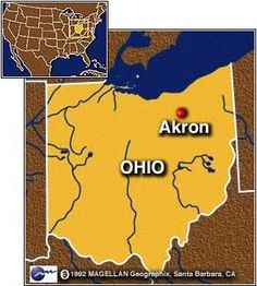Akron is the fifth largest city in the state of Ohio and is the county seat of Summit County. It is located in the Great Lakes region approximately 39 miles south of Lake Erie along the Little Cuyahoga River. Akron was co-founded in 1825 when suggested by Paul Williams to General Simon Perkins.