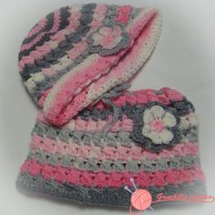 cuello y gorro en ganchillo niña rosa bd3e3b1aa5f