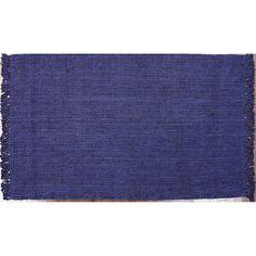 nuLOOM Natura Chunky Loop Solid Jute Rug, Blue (Navy)