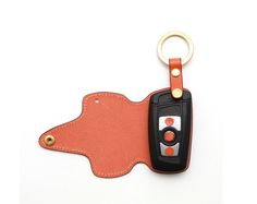 BMW 1-3 series smart. Handmade Buttero Leather Smart Key Cover/Case   -Handmade by: Custom Republic  -Leather: Vegetable leather from Conceria Walpier & Vera Pelle -Attachment pieces: 18K gold satin coating - Colors: natural, yellow, orange, brown, navy, and camouflage -Thread & Stitching: Serafil (from Germany)  -Measurement: 5.3 cm x 13.5cm