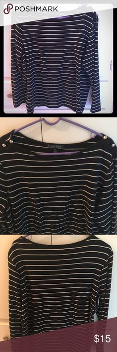 Ralph Lauren black & white long sleeved shirt Beautiful black & white long sleeved Ralph Lauren shirt perfect for fall and winter. Size 3X but it runs small. Ralph Lauren Tops Tees - Long Sleeve