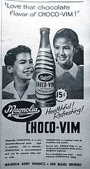 Slogan: enjoy choco-vim everyday, it's helpful. Nutritious and oh, so delicious! Brand Advertising, Old Advertisements, Popular People, My Vibe, World History, I Smile, Manila, Vintage Ads, Slogan