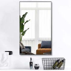 Modern Aluminum Alloy Thin Framed Full Length Floor Mirror - On Sale - Overstock - 30393628 - 71x31x1 - Gold Full Length Floor Mirror, Mirror Shapes, Large Furniture, Minimalist Decor, Home Decor Outlet, Aluminium Alloy, Modern Contemporary, Mirrors, Room Decor