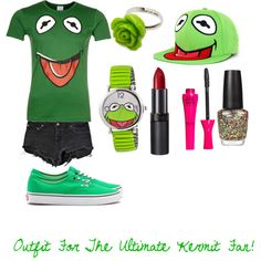 Kermit The Frog Outfit #1, created by stylestomlinsonpaynemalikhoran on Polyvore