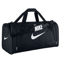 fbe197183fb8 Head off to the gym or team practice with the NIKE Brasilia 6 large duffel  bag