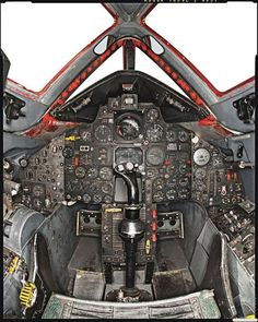 "SR71 Blackbird cockpit, if you look closely you can see that the ""Fucking Awesome"" gauge is pegged."